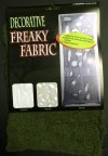 6 x Freaky Fabric Loose Weave Halloween Decoration - Green