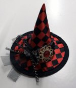 6 x New Halloween Red Mini Witch Hat