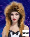 1 x New Womens Rock Star Spiky Tina Wig -Gold Black