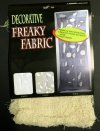 6 x Freaky Fabric Loose Weave Halloween Decoration - Cream