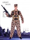 1 X Mens popular Army man costume - Large Size