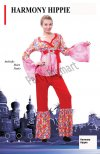 1 X New Womens Popular Harmony Hippie Costume - Large Size